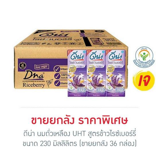 ดีน่า นมถั่วเหลืองUHT สูตรข้าวไรซ์เบอร์รี่ 230 มล. (ยกลัง 36 กล่อง)