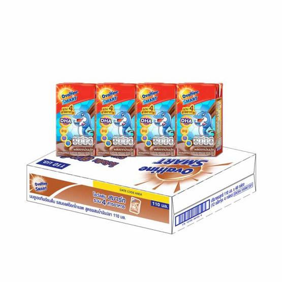 โอวัลตินสมาร์ท นมUHT 110 มล. (ยกลัง 48 กล่อง)