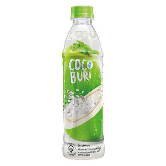โคโค่บุรี น้ำมะพร้าวผสมเนื้อมะพร้าว 350 มล. (ยกลัง 24 ขวด)