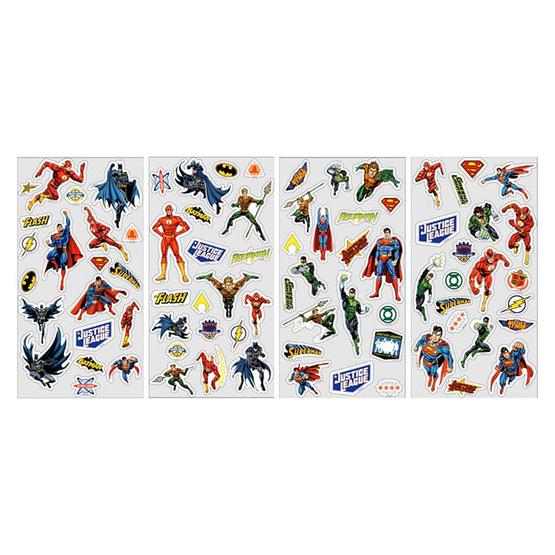 สติ๊กเกอร์ Epoxy Justice League คละลาย (จำหน่าย 4 แพ็ค)