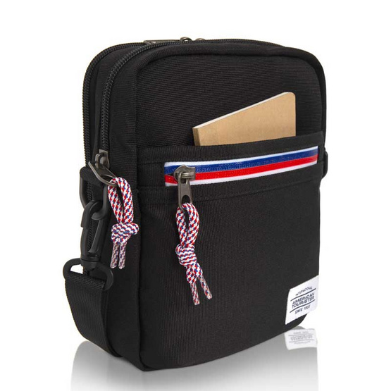 AMERICAN TOURISTER กระเป๋าเป้สะพายข้าง รุ่น KRIS VERTICAL BAG สี BLACK