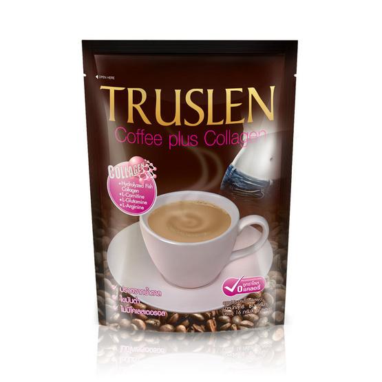 กาแฟทรูสเลน พลัส คอลลาเจน 80กรัม แพ็ก 5 ซอง (3 ถุง)