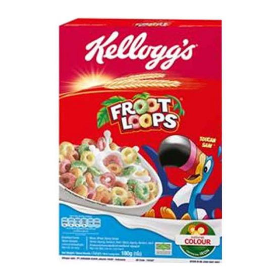 อาหารเช้าเคลล็อกส์ฟรุ๊ตลูปส์ 25 กรัม (ยกแพ็ก 12 ชิ้น)
