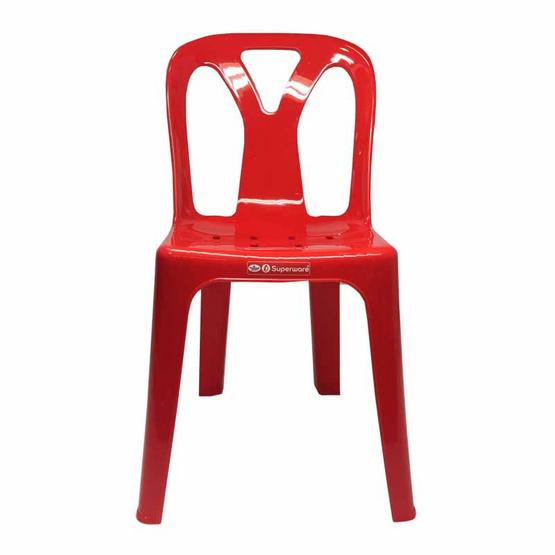 Srithai Superware เก้าอี้มีพนักพิงรุ่น CH-58 สีแดง