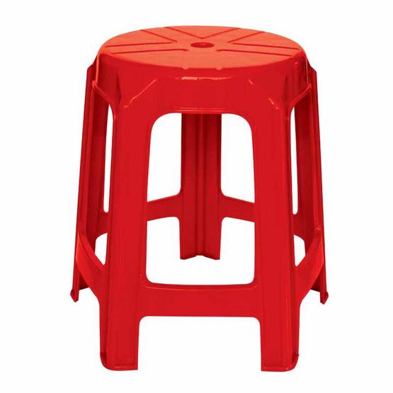 Srithai Superware เก้าอี้ไม่มีพนักพิงรุ่น CH-61 สีแดง