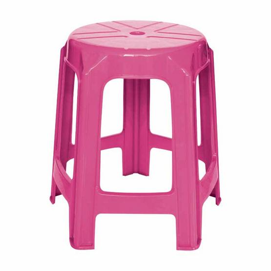 Srithai Superware เก้าอี้ไม่มีพนักพิงรุ่น CH-61 สีชมพูบานเย็น
