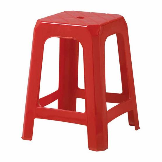 Srithai Superware เก้าอี้ไม่มีพนักพิงรุ่น CH-37 สีแดง