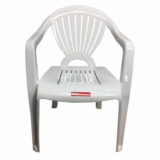 Srithai Superware เก้าอี้มีท้าวแขนรุ่น CH-48 สีขาว