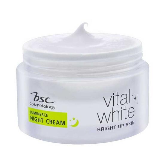 BSC ครีมบำรุงผิวหน้า Vital White Luminesce Night Cream 30 กรัม
