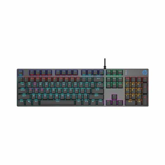 HP แมคคานิคอล คีย์บอร์ดเกม GK400F Colorful Backlight