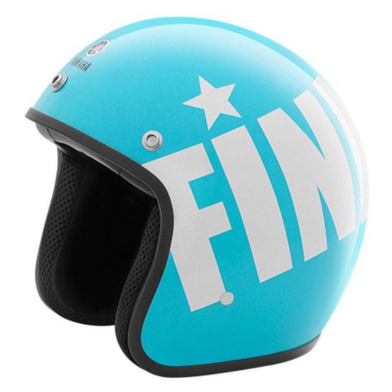 YAMAHA FINN หมวกกันน็อคเต็มใบ (สีฟ้า)