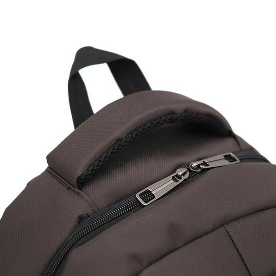 HQ LUGGAGE กระเป๋าเป้ โน้ตบุ๊ค Sky-bow รุ่น 11142 (สีน้ำตาล)