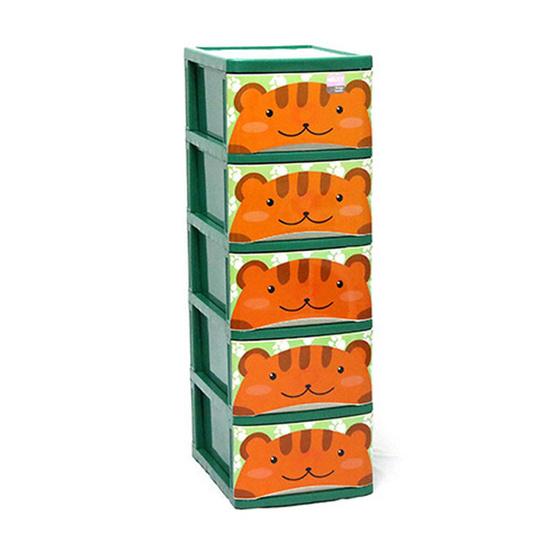 OA Furniture ตู้ลิ้นชักพลาสติก MILKY CARTOON 5 ชั้น (ลายหมี)