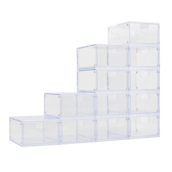 UDEE กล่องลิ้นชักแม่เหล็ก-ใสขนาดเล็ก (ชุด 12 ชิ้น)