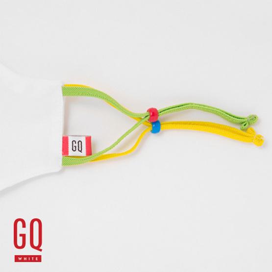 GQ หน้ากากผ้าเด็กหูสีเหลือง-เขียว (อายุ 4-9 ปี)