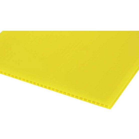 PANKO แผ่นฟิวเจอร์บอร์ด 65x49 ซม. หนา 2 มม. สีเหลือง (แพ็ค3แผ่น)