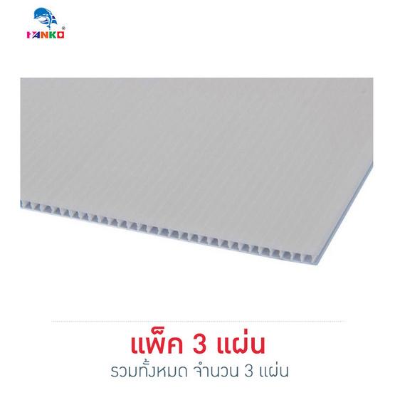 PANKO แผ่นฟิวเจอร์บอร์ด 65x49 ซม. หนา 2 มม. สีขาว (แพ็ค3แผ่น)