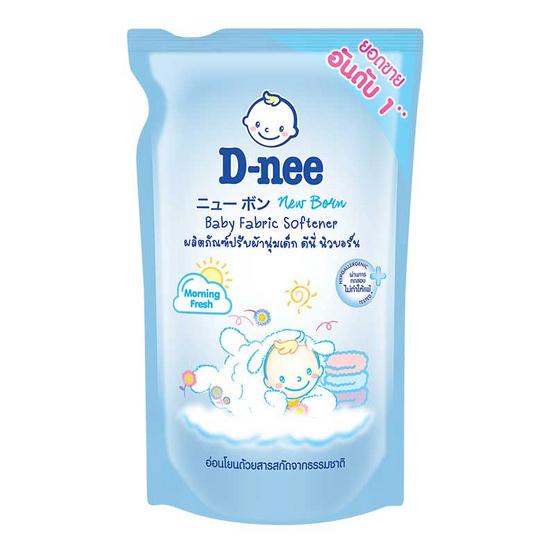 D-nee ปรับผ้านุ่มเด็ก มอร์นิ่งเฟรชสีฟ้า 600 มล.