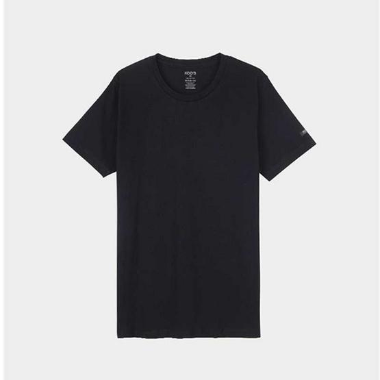 KOO'S เสื้อยืดคอกลมแขนสั้นดำ