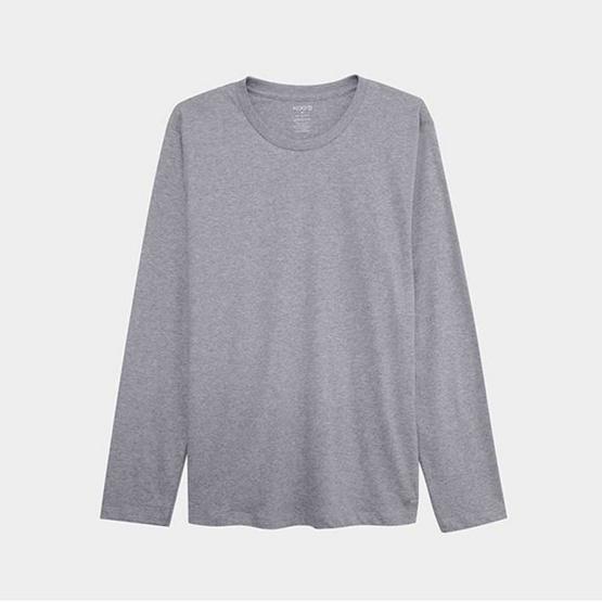 KOO'S เสื้อยืดคอกลมแขนยาวท๊อปดายอ่อน