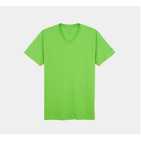 KOO'S เสื้อยืดคอวีแขนสั้นเขียวมะนาว