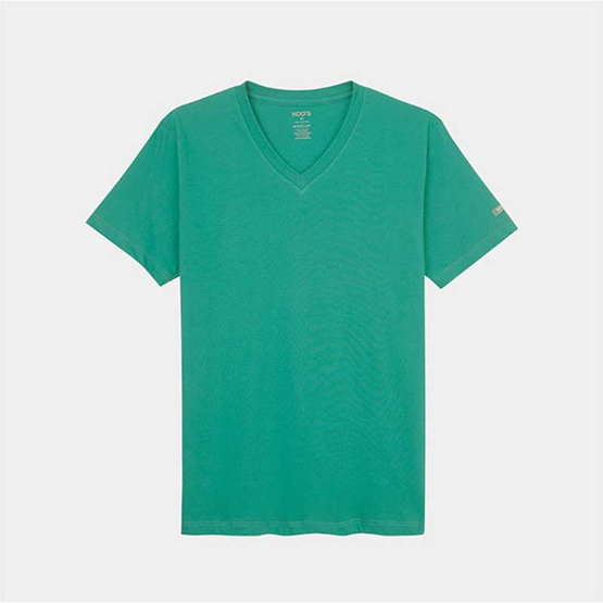 KOO'S เสื้อยืดคอวีแขนสั้นเขียวเปอร์เซีย