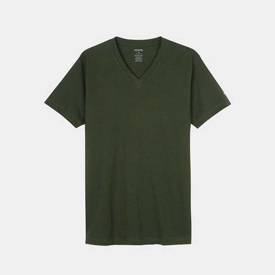 KOO'S เสื้อยืดคอวีแขนสั้นแบล็คฟอเรสต์