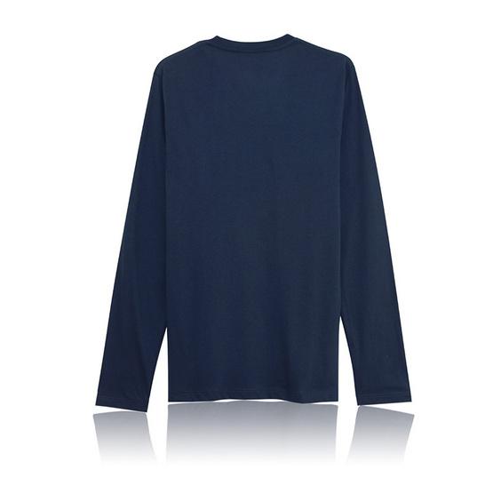 KOO'S เสื้อยืดคอวีแขนยาวเทาอากาศ