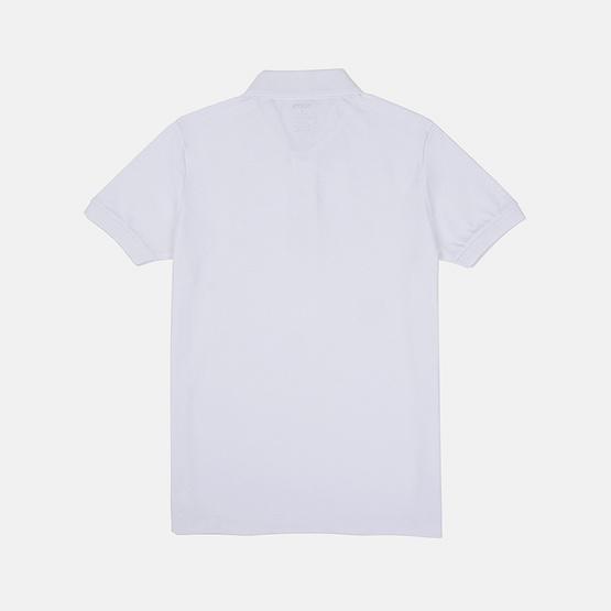 KOO'S เสื้อโปโลคอปกขาว