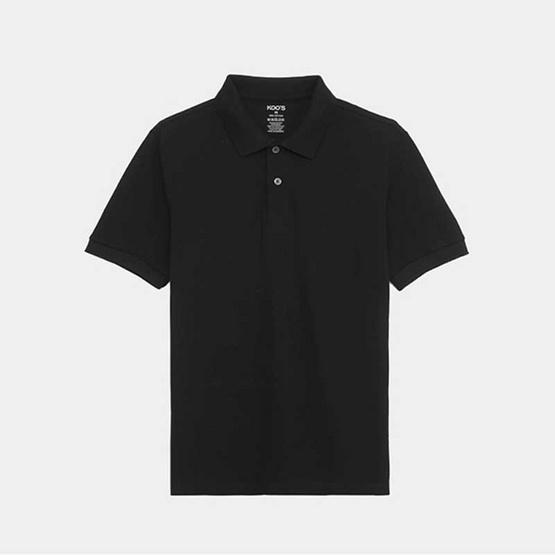 KOO'S เสื้อโปโลคอปกดำ