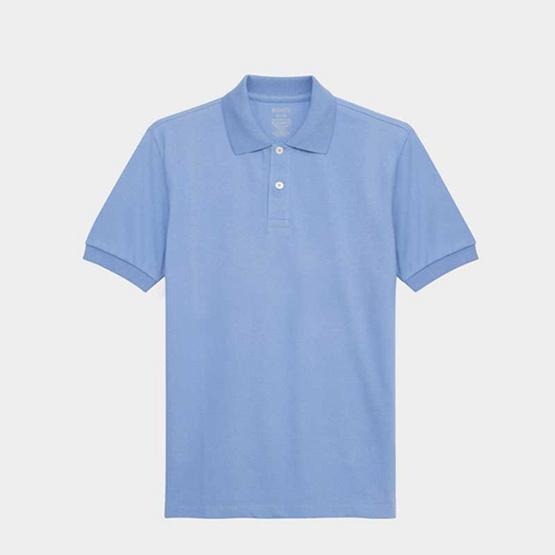 KOO'S เสื้อโปโลคอปกบอยบลู