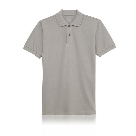 KOO'S เสื้อโปโลคอปกเทาสโตน