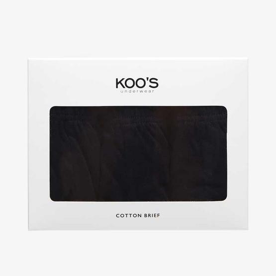 KOO'S กางเกงในรุ่นเอสเซนเชียลบรีฟยางหุ้มดำ3Pack