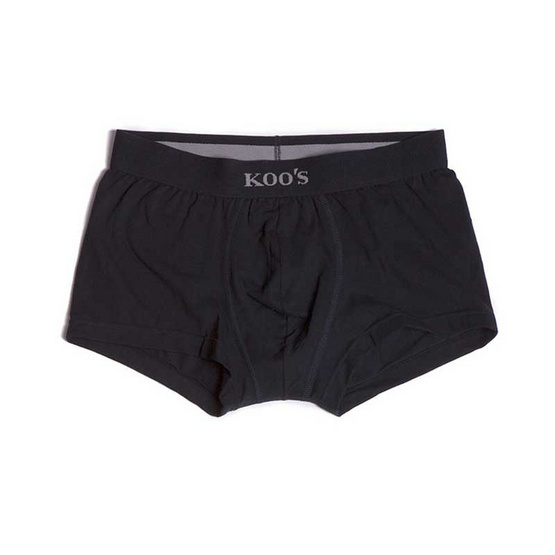 KOO'S กางเกงในรุ่นซิเนเจอร์ขาสั้นยางดำดำ