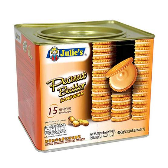 จูลี่ส์ ขนมปังสอดไส้เนยถั่ว 450 กรัม