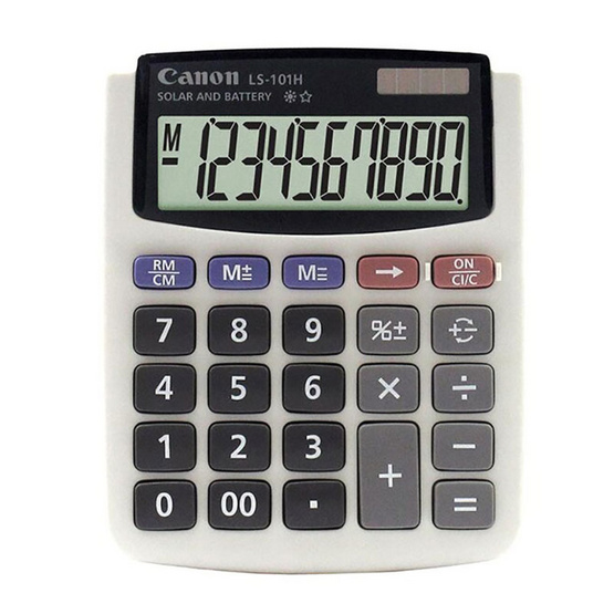 Canon Mini Desktop Calculator รุ่น LS-101H