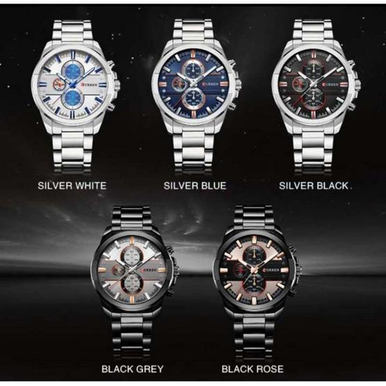 Curren นาฬิกาข้อมือ รุ่น C8274-Silver/BK