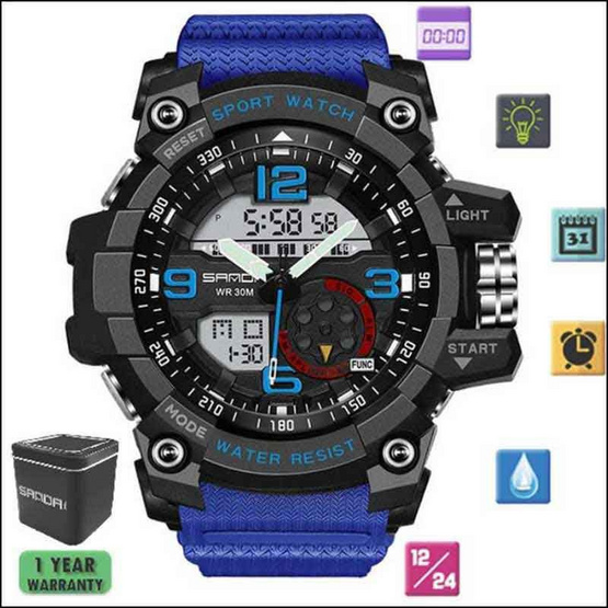 SANDAWATCH นาฬิกาข้อมือ SW759น้ำเงิน