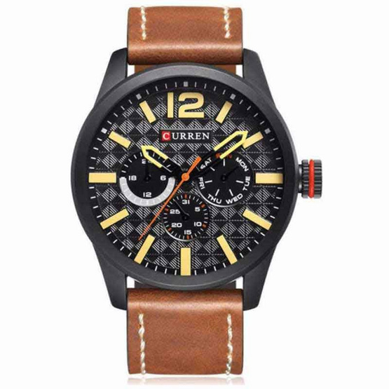 Curren นาฬิกาข้อมือ  C8247น้ำตาลดำ