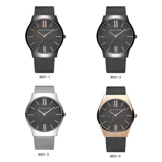 VA VA VOOM นาฬิกา รุ่น VA8001ดำ/ทอง