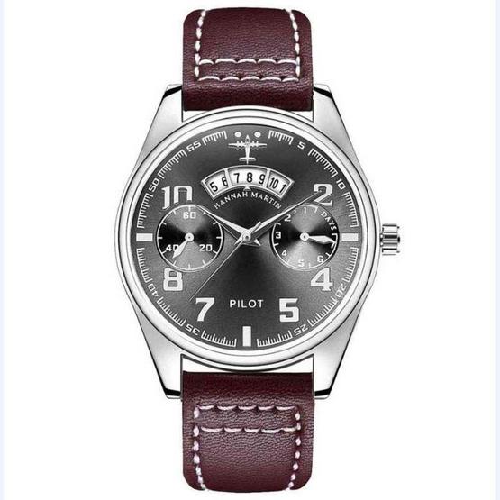 HANNAH MARTIN นาฬิกาข้อมือ รุ่น HM-KY19 น้ำตาล/ดำ