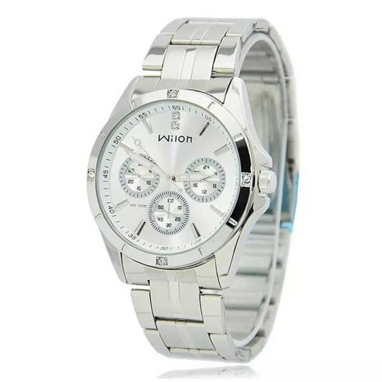 Wilon นาฬิกาข้อมือคู่รัก สายสแตนเลส รุ่น WL-1025