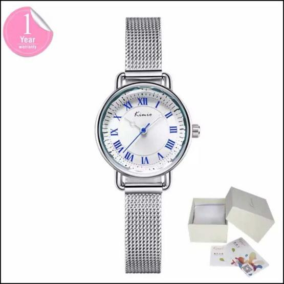 Kimio นาฬิกาข้อมือผู้หญิง สีเงิน/ขาวรุ่น KW6213