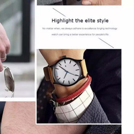 Curren นาฬิกาข้อมือผู้ชาย สายหนังสีดำ รุ่น C8214
