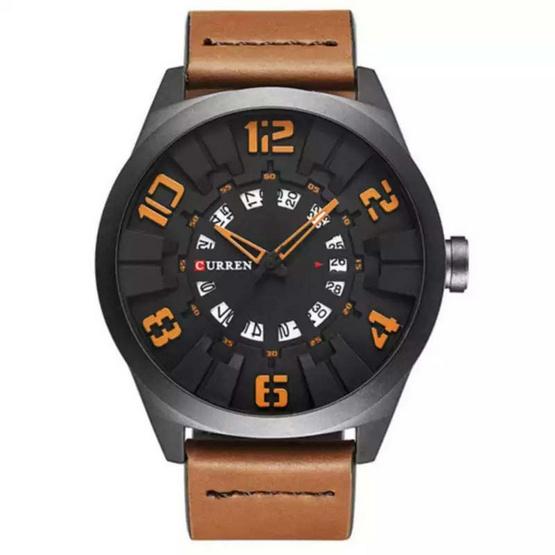 Curren นาฬิกา สายหนังสีน้ำตาล รุ่น C8258