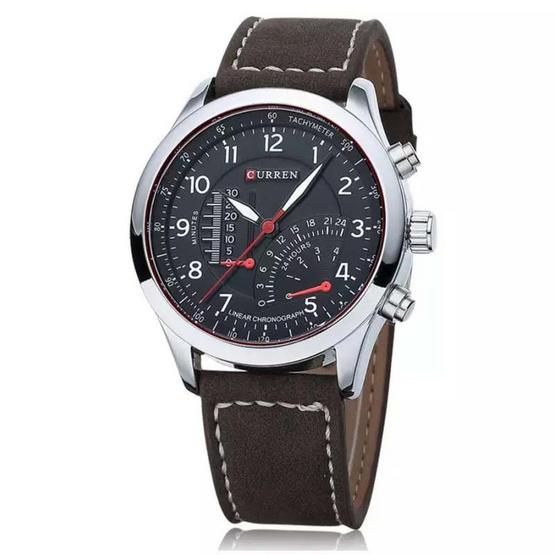 Curren นาฬิกา สีดำ สายหนัง รุ่น C8152