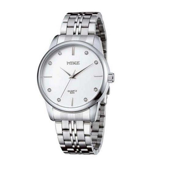 MIKE นาฬิกาผู้ชาย สีขาว รุ่น M-8204
