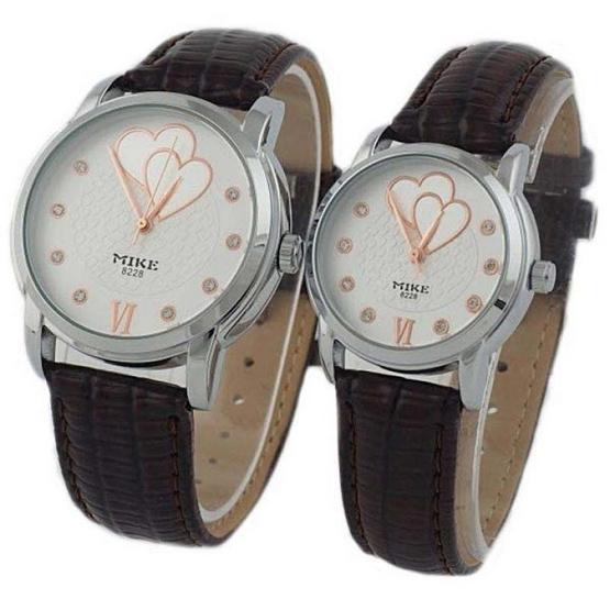 MIKE นาฬิกาคู่รักลาย Romantic Heart รุ่น M-8228
