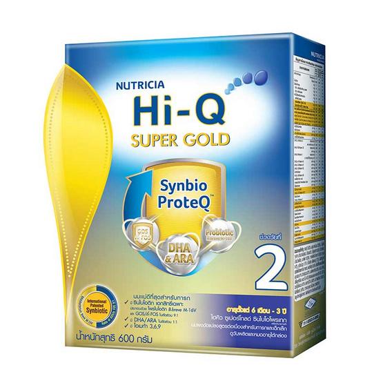 Hi-Q ซูเปอร์โกลด์ นมผงสูตร2 600 กรัม