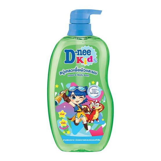 ดีนี่คิดส์ครีมอาบน้ำ เฮด&บอดี้ เขียว 600 มล.
